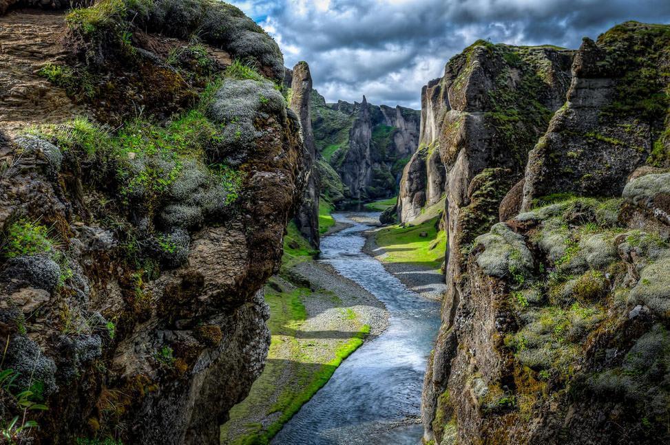 یکی از زیباترین کانیون های جهان، ایسلند