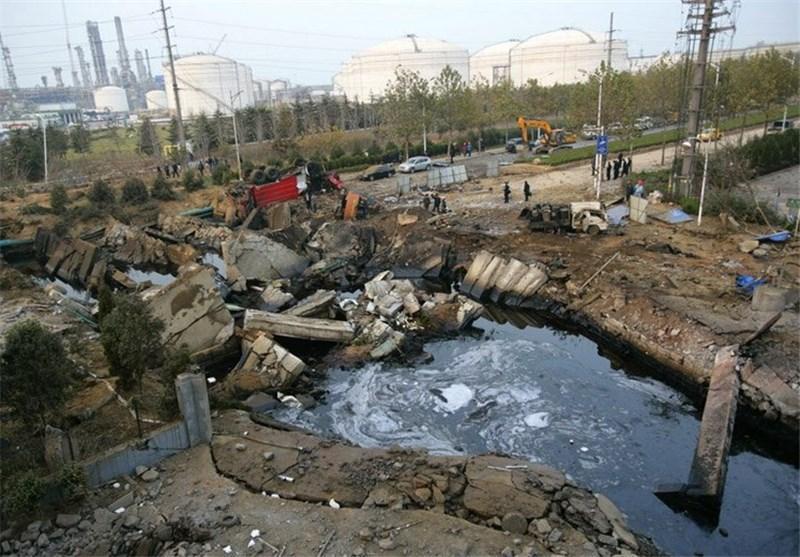 افزایش تلفات انفجار خط لوله در شرق چین به 62 کشته