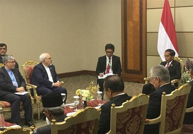 ظریف با رئیس جمهور اندونزی دیدار کرد