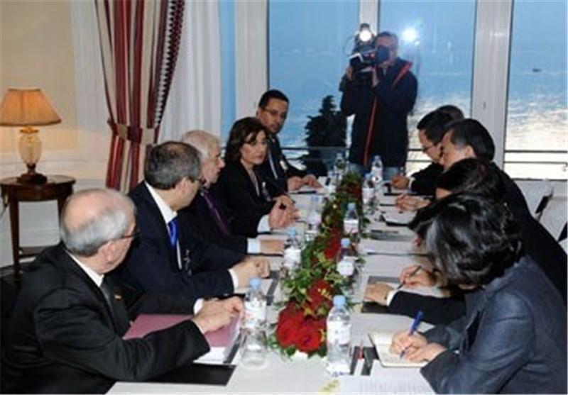 دیدار وزیران خارجه چین و سوریه ، المعلم مبارزه با تروریسم را اولویت مردم سوریه دانست
