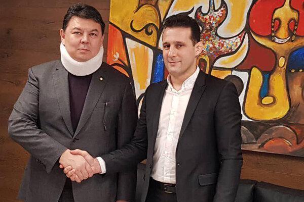 ملاقات میراسماعیلی با رئیس فدراسیون جهانی قزاق کورس