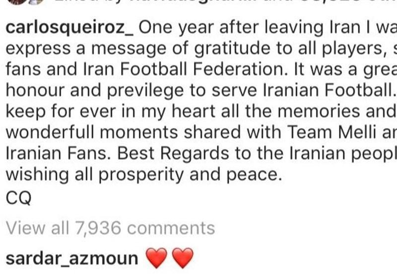 پیغام کی روش به فوتبال ایران پس از یک سال (