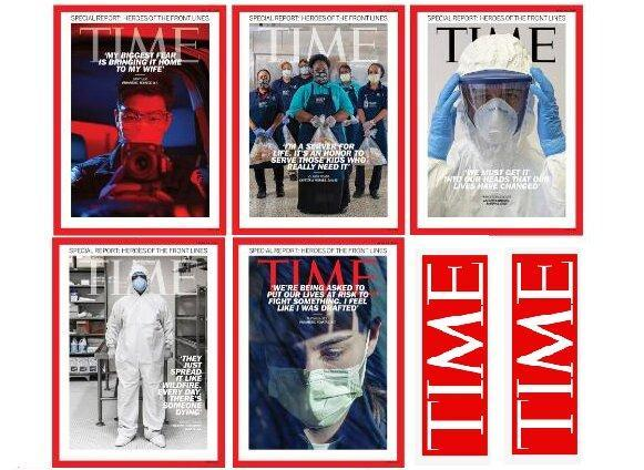 مجله تایم با پنج جلد ویژه مبارزان کرونا منتشر شد
