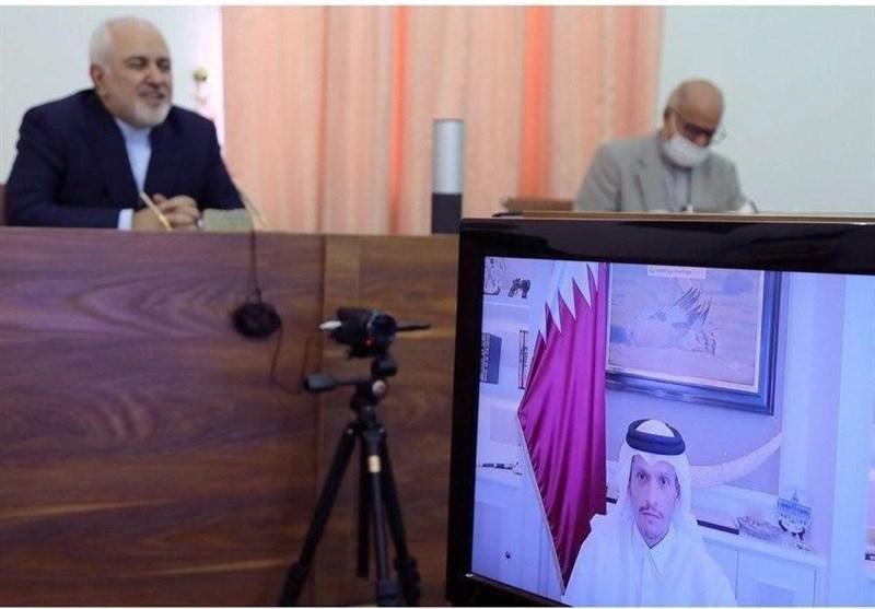 رایزنی ظریف و همتای قطری درباره آخرین تحولات منطقه ای و همکاری های دوجانبه
