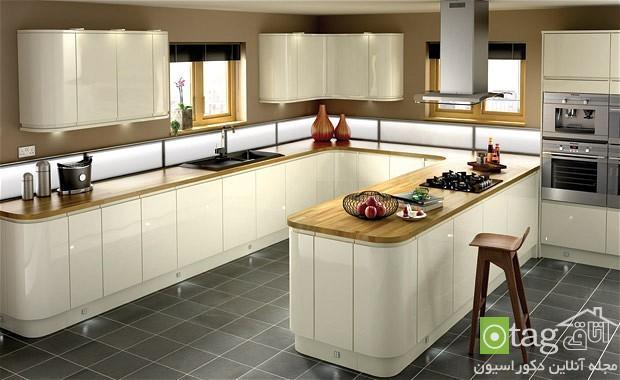 طراحی دکوراسیون آشپزخانه بهمراه کابینت های شیک