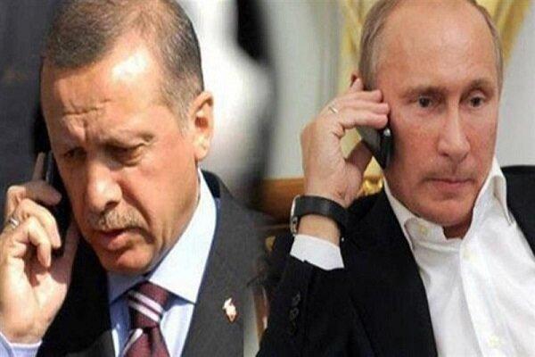 پوتین و اردوغان درباره سوریه و قره باغ مصاحبه کرد