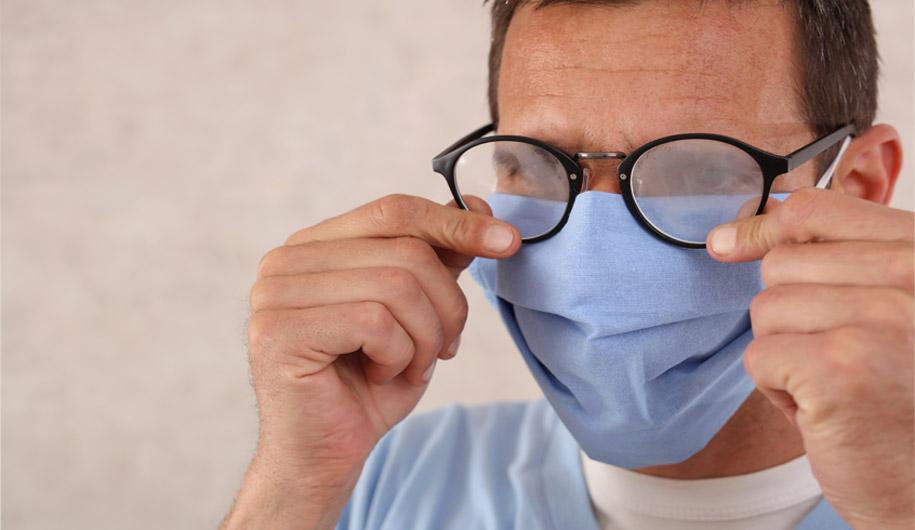 جلوگیری از بخار دریافت عینک هنگام ماسک زدن