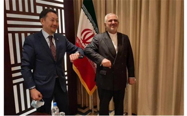 ملاقات ظریف با دبیر اجرایی سیکا در حاشیه کنفرانس قلب آسیا