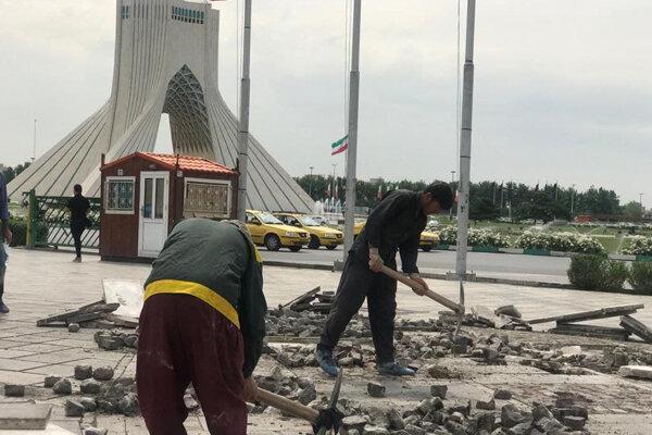چالش تازه برج آزادی پس از حواشی شلیک توپ نوروزی!