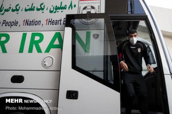 کاروان تیم ملی فوتبال ایران وارد جزیره کیش شد