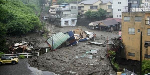 رانش زمین در ژاپن دو کشته و 20 مفقود برجای گذاشت