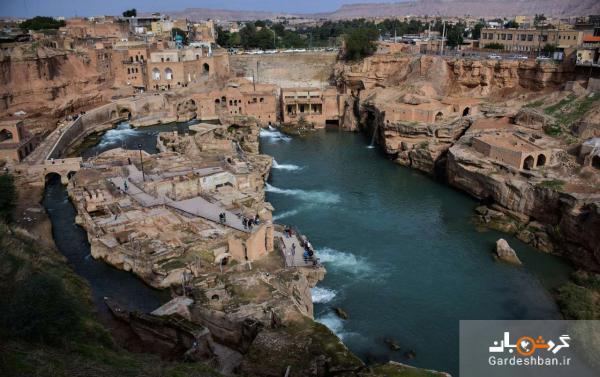 تصاویر شگفت انگیز از سازه های آبی شوشتر در جنوب ایران